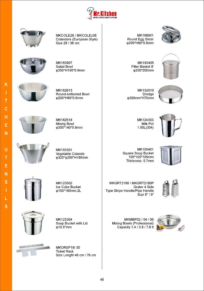 Kitchen Utensil Alat Masak Peralatan Dapur Hotel Katering Restoran Rumah Tangga Makan Pemanas Makanan