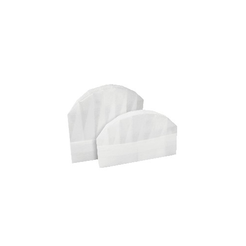 60g non woven round top chef hat  size : 28cmx23cm - DISPOSABLE