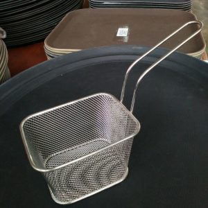 "Basket (Wire Mesh) 5.25x 4.25x3.25"" (18/8) - King Metal"