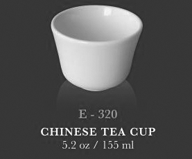 Chinese tea cup 3.3oz - KERAMIK