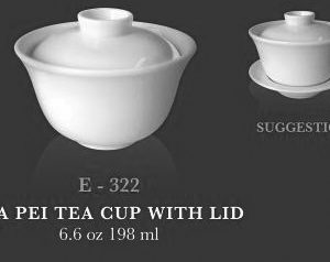 Cia pei tea cup with lid - KERAMIK