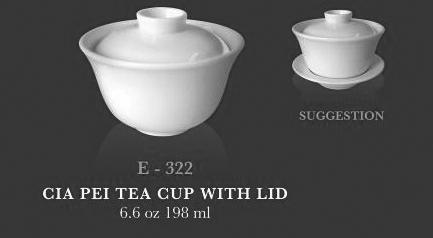 Cia pei tea cup with lid - KERAMIK