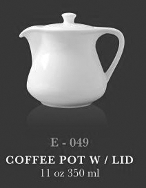 Coffe pot with lid 11oz - KERAMIK