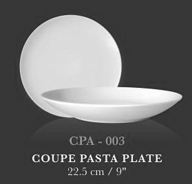 "Coupe Pasta Plate 9"" - KERAMIK"