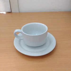 "CUP AND SAUCER PLAIN 2"" (CERAMIC) - KOPIN"