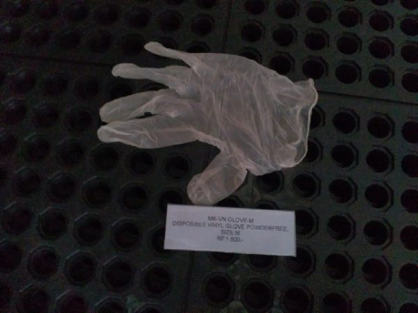 Disposable Vinyle glove powder or powderfree  size : Length: 24cm