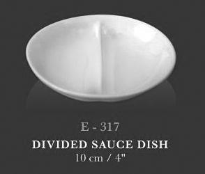 Divided sauce dish - KERAMIK
