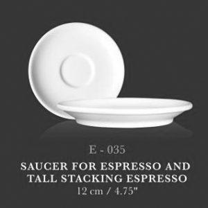Esp Saucer 4.75' (for Esp & Tall Stc Espresso) - KERAMIK