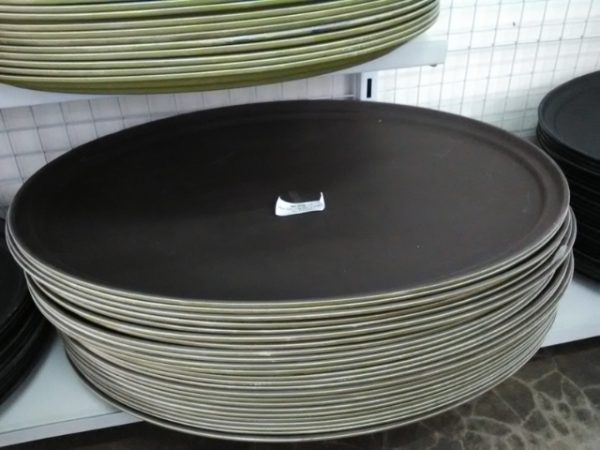 FIBERGLASS NON SLIP TRAY 800x600MM BLACK - JW