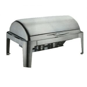 OBLONG ROLL TOP CHAFING DISH 9L/ 620MM X 365MM X 320MM - CHAFING DISH