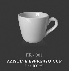 Pristine Espresso cup 3 oz 100 ml - KERAMIK