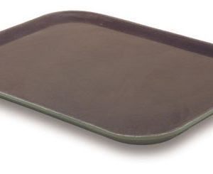 Rectanguler Tray Non-Slip 35.5 x 46cm Brown - JW