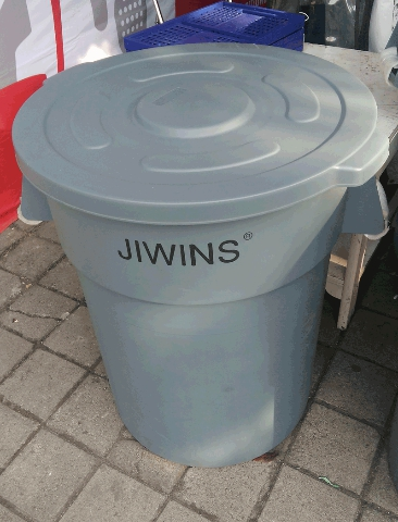 MK-CRC210E : Recycle Round Container Jiwins 208.2 Ltr + Lid - JW