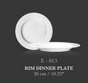 """Rim Dinner Plate 10.25"""" - KERAMIK"""