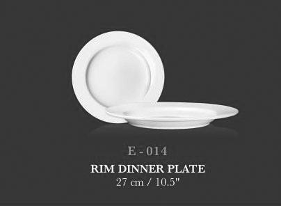 """Rim Dinner Plate 10.5"""" - KERAMIK"""