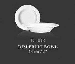"""Rim Fruit Bowl 5"""" - KERAMIK"""