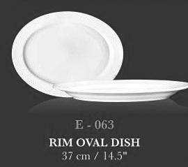 """Rim Oval Dish 14.5"""" - KERAMIK"""