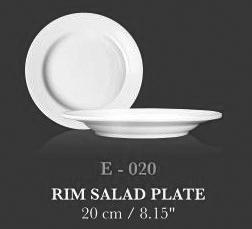 """Rim Salad Plate 8.15"""" - KERAMIK"""