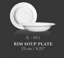 """Rim Soup Plate 9.25"""" - KERAMIK"""