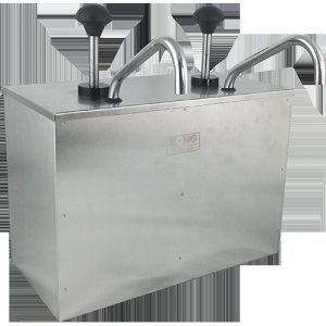S/S SAUCE PUMP (DOUBLE) - CHAFING DISH