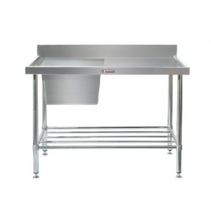 Sink Bench With Splash Back - SIMPLY STAINLESS