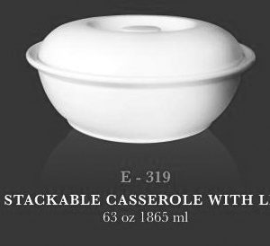 Stackable casserole with lid 63oz - KERAMIK