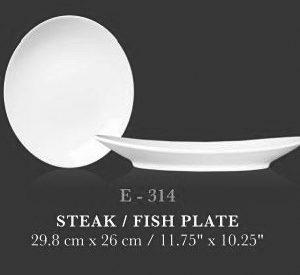 Steak/fish plate - KERAMIK