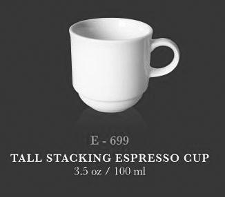 Tall Stacking Espresso Cup 3.5oz - KERAMIK