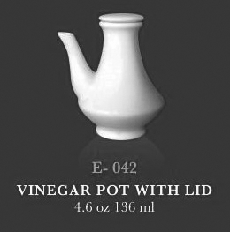 Vinegar or soy sauce pot with lid 4.6oz - KERAMIK