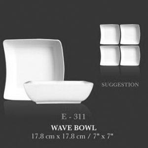 "Wave bowl 7""x7"" - KERAMIK"