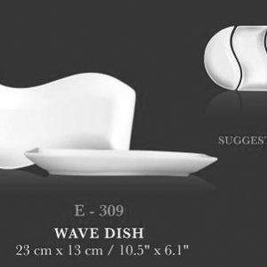 "Wave dish 10.5""x10.5"" - KERAMIK"