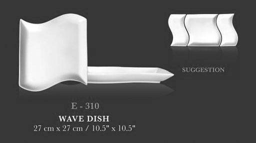 "Wave dish 5""x10.5"" - KERAMIK"