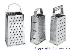 "Grater W/Pipe Hdl. 9"" S/S - King Metal"