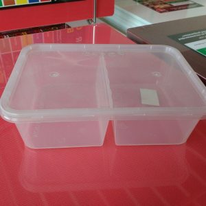 UL-650D : Rectangular Container with 2 compartments 171 x 122 x 48 300