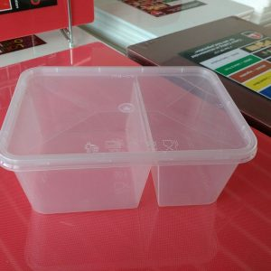 UL-1000DS : Rectangular Container with 2 compartments 171 x 122 x 71 335