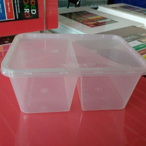 UL-1000D : Rectangular Container with 2 compartments 171 x 122 x 71 450