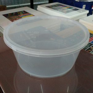 UL-3000 : Round Container 237 x 103 3000ml  transparan - UL