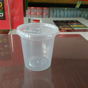 UL-8 : Round Container 75 x 78 190ml  transparan - UL