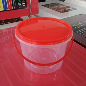 UL-SL750FPT : Round Container with safety lock 125 x 93 750ml  transparan - UL