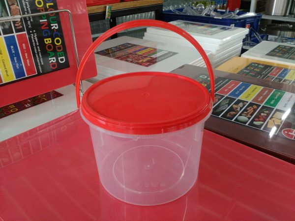 UL-SL1500B-FPT : Round Container with safety lock 152 x 107 1500ml  transparan - UL
