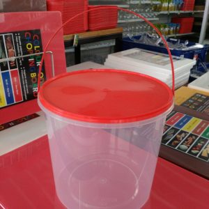 Round Container with safety lock 215 x 199 5000ml  transparan - UL