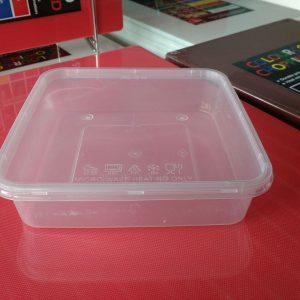 UL-SQ700 : Square Container 161 x 161 x 40 730ml  transparan - UL