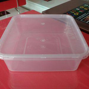 UL-SQ1 : Square Container 161 x 161 x 55 1060ml  transparan - UL