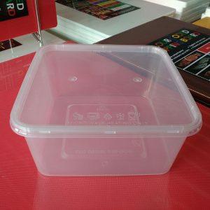 UL-SQ1500 : Square Container 161 x 161 x 75 1440ml  transparan - UL