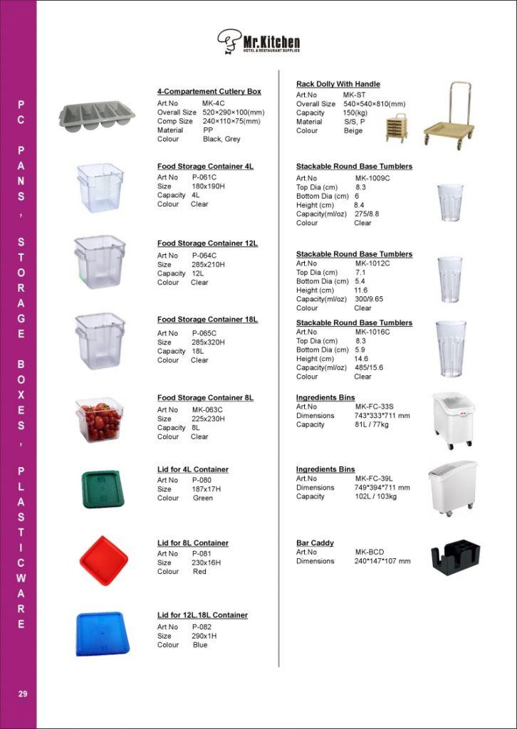 29 pc pans, storage boxes, palsticwares 2